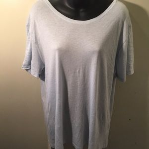 American Apparel Loose Fit Baby Blue Blouse Large